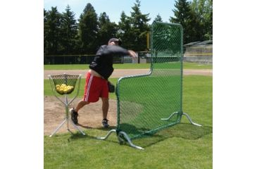 Jugs Sports Indoor Split-Cage Package - L-Shaped Pitchers Screen