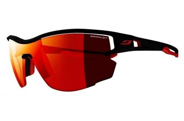 52f4e22a9f6088 Julbo Aero Sunglasses,Black Red Frame,Spectron 3 CF Lens J4831114