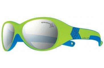 Julbo Bubble Kids Sunglasses, Lime/Blue w/ Spectron 3+ Lenses 3912316