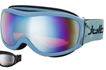 Julbo Cassiopee Rx Insert Goggles - Black/Red Frame, Flash Silver/Orange tint lens 70512141