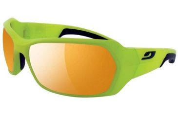 Julbo Dirt Sunglasses, Green/Black Frame With Zebra Lenses 3693116