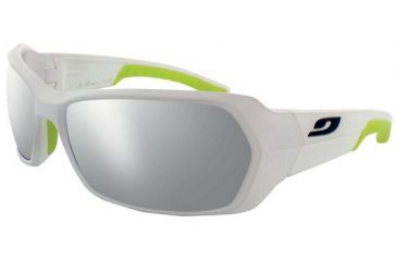 Julbo Dirt Sunglasses, White/Apple Green Frame With Spectron 4 Lenses 3691211