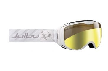 Julbo Luna Goggles, White w/Zebra Light Double Spherical Lenses And A Light Gold Flash Treatment 72831114