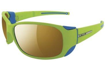 Julbo Montebianco Sunglasses, Apple Green/Blue Frame w/ Camel Lenses 4155016