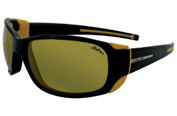 Julbo Montebianco Sunglasses, Matt Black/Yellow w/ Zebra Lenses 4153114