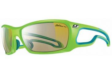 Julbo Pipeline  Sunglasses, Lime Green w/ Zebra Light Lenses 4283116