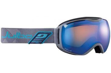 Julbo Quantum Goggles, Grey/Blue w/Orange Cat 2 Double Spherical Lenses And A Blue Flash Treatment 73712214