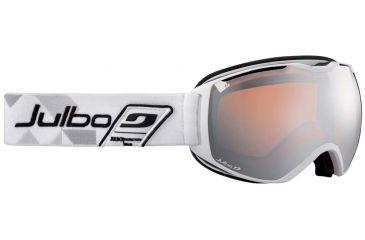 Julbo Quantum Goggles, White w/Orange Cat 2 Double Spherical Lenses And A Silver Flash Treatment 73712114