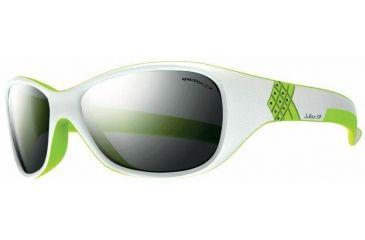 Julbo Solan Kids Sunglasses, White/Lime w/ Spectron 3+ Lenses 3901111