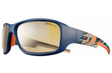 Julbo Stunt Sunglasses, Blue/Orange w/ Zebra Light Hard Lenses 4383112