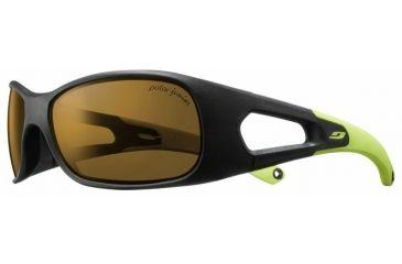 Julbo Trainer L Kids Sunglasses, Black/Green w/ Kids Polar Lenses 4559214