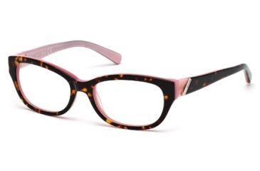 Just Cavalli JC0537 Eyeglass Frames - Coloured Havana Frame Color