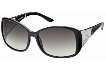 Just Cavalli JC349S Sunglasses - Shiny Black Frame Color, Gradient Smoke Lens Color