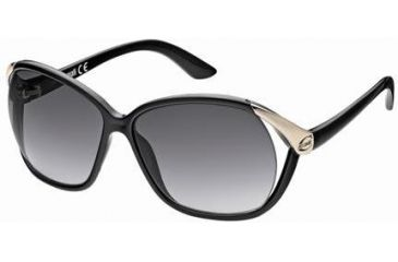 Just Cavalli JC398S Sunglasses - Shiny Black / Gradient Green Frame Color
