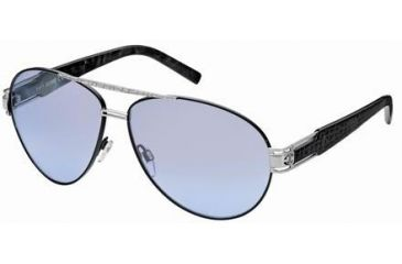 Just Cavalli JC400S Sunglasses - Shiny Palladium Frame Color, Smoke Mirror Lens Color