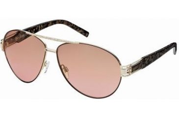 Just Cavalli JC400S Sunglasses - Shiny Rose Gold Frame Color, Gradient Brown Lens Color