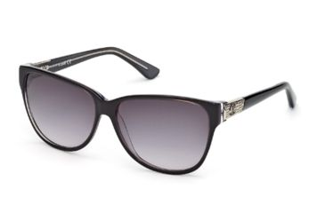 Just Cavalli JC415S Sunglasses - Black Frame Color, Gradient Smoke Lens Color