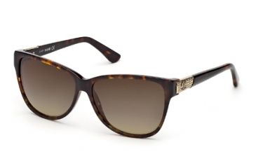Just Cavalli JC415S Sunglasses - Dark Havana Frame Color, Gradient Green Lens Color