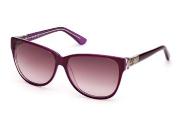 Just Cavalli JC415S Sunglasses - Violet Frame Color, Gradient / Mirror Violet Lens Color