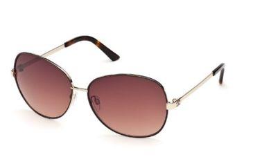 Just Cavalli JC417S Sunglasses - Shiny Rose Gold Frame Color, Gradient Brown Lens Color