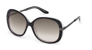 Just Cavalli JC418S Sunglasses - Black/Crystal Frame Color, Gradient Smoke Lens Color