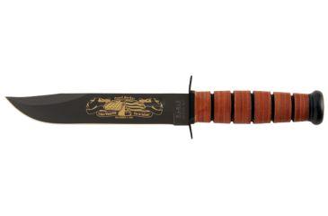 Ka Bar Knives Kb9108 Pearl Harbor Army With Brown Leather Sheath
