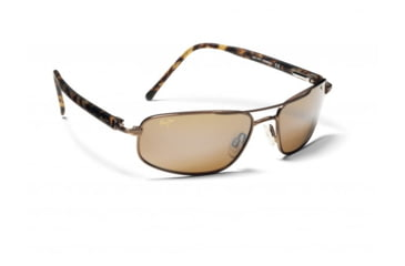 Maui Jim Kahuna Sunglasses w/ Metallic Gloss Copper Frame and HCL Bronze Lenses - H162-23, Quarter View
