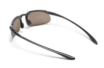 Maui Jim Kanaha Sunglasses w/ Gloss Black Frame and HCL Bronze Lenses - H409-02, Back View