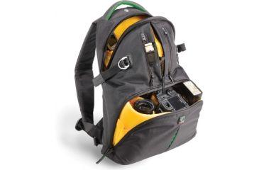 Kata BagsDR-465; Digital Rucksack - Black with Green Accents KT-DR-465-BG