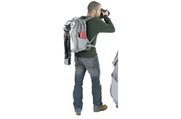 Kata MiniBee-111 UL Backpack Tripod Holder View 2 - Light Gray KT-UL-MB-111