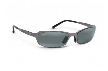 Maui Jim Keiki Sunglasses w/ Gunmetal Frame and Neutral Grey Lenses - 213-02, Quarter View