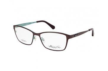 Kenneth Cole KC0206 Eyeglass Frames - Dark Brown Frame Color