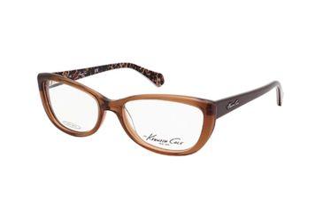 Kenneth Cole KC0211 Eyeglass Frames - Shiny Dark Brown Frame Color