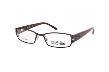 Kenneth Cole KC0748 Eyeglass Frames - Shiny Dark Brown Frame Color