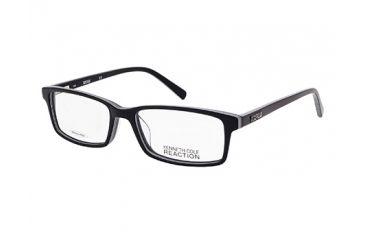 Kenneth Cole KC0749 Eyeglass Frames - Black / White Frame Color