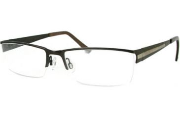 Kenneth Cole New York KC0166 Eyeglass Frames - Shiny Dark Brown Frame Color