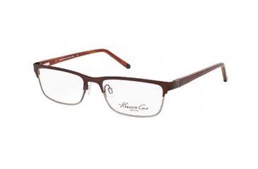 Kenneth Cole New York KC0178 Eyeglass Frames - Shiny Dark Brown Frame Color