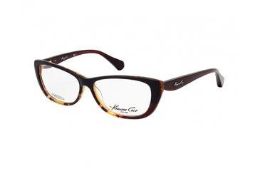 Kenneth Cole New York KC0202 Eyeglass Frames - Dark Brown Frame Color