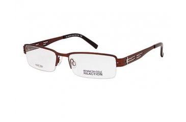 Kenneth Cole Reaction KC0709 Eyeglass Frames - Matte Dark Brown Frame Color