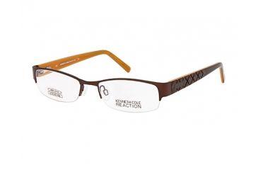 Kenneth Cole New York KC0739 Eyeglass Frames - Shiny Dark Brown Frame Color