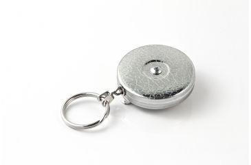 Key-Bak 5SK Retractable Striker/Tool Reel w/ 24in Stainless Steel Chain, Chrome Front, Steel Belt Clip, Split Ring 0005-005