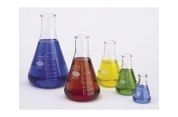 Kimble/Kontes KIMAX Brand Erlenmeyer Flasks, Narrow Mouth, Reinforced Beaded Top, Capacity Scale 26520 1