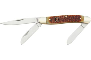 Klaas Stockman Stainless Knife, Autumn Brown Handle, 3.5in. Closed KC6328BR