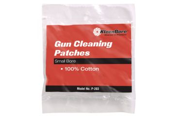 Kleen Bore 100% Cotton Cleaning Patches Small Bore 100 Per Package P-200