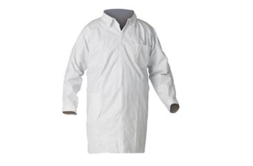 Kleenguard A40 Liquid & Particle Protection Lab Coats, White, Large 44453