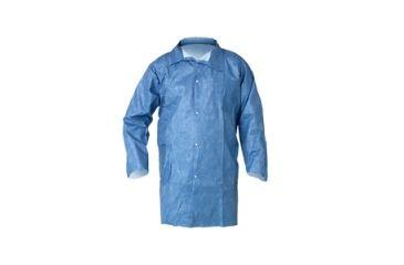 Kleenguard A60 Bloodborne Pathogen & Chemical Splash Protection Lab Coats, Blue, Medium 45512