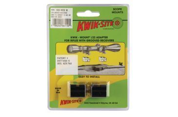Kwik-Site .22 Adapter For Grooved Receiver Bright Black