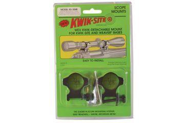 Kwik-Site Weaver Style Rings High to 52mm Objective Matte Black KS-304M