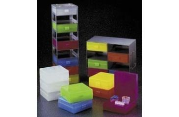 VWR Microtube Storage Boxes and Freezer Racks, 100-Place R8300-A-VWR Storage Boxes Assorted*