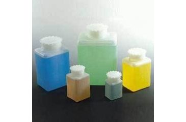 VWR Square Bottles, High-Density Polyethylene, Wide Mouth K613-VWR